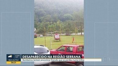 Francês desaparece durante trilha na Serra dos Órgãos - Bombeiros passaram o fim de semana fazendo buscas entre Petrópolis e Teresópolis.