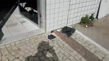 Bandidos atacam dois bancos em Amontada - Ninguém foi preso.