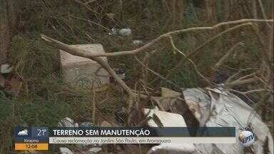 Terreno sem manutenção vira alvo de reclamação de moradores de bairro em Araraquara - Prefeitura disse que vai enviar um fiscal ao local que fica no Jardim São Paulo.