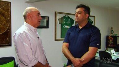 Presidente do Goiás admite que clube segue no mercado em busca de reforços - Segundo Marcelo Almeida, ideia principal é buscar peças para o ataque, que perdeu Carlos Eduardo.