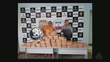 Drogas são apreendidas em fundo falso de carro durante operação na Compensa em Manaus - Policiais realizavam operação para desarticular esquema de carros roubados quando se depararam a droga.