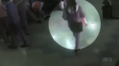 Polícia divulgou imagens de suspeita de ter abandonado bebê em Londrina - Bebê está bem.