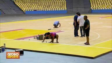 Ginásio Nilson Nelson recebe melhorias para jogos do Brasil no vôlei - Seleções masculina e feminina vão disputar amistosos em Brasília, como preparação para o campeonato mundial.