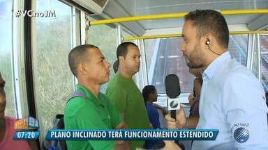 Transporte: Plano Inclinado terá horário estendido em Salvador - Confira os detalhes com os novos horários.