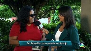 Cantora Cris Emmel retorna aos palcos com novo trabalho em Aracaju - A repórter Janaína Rezende tem mais informações.