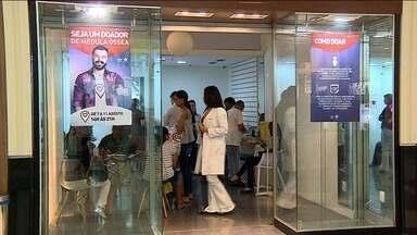 Hemose realiza cadastro de medula óssea em shopping de Aracaju - Dados vão ser encaminhados ao Registro Nacional de Doadores de Medula Óssea.