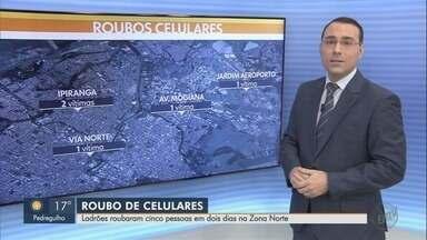 Em dois dias, Ribeirão Preto registra cinco roubos de celulares - Polícia Militar diz que faz patrulhamento ostensivo nas regiões atingidas.