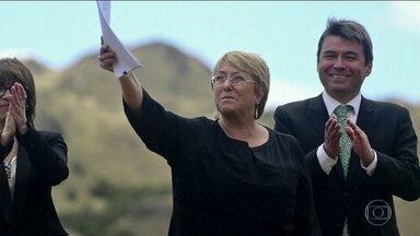 Michelle Bachelet é aprovada como nova chefe da agência da ONU para Direitos Humanos - Ex-presidente chilena vai ocupar o cargo de Alta Comissária das Nações Unidas para Direitos Humanos durante os próximos 4 anos.