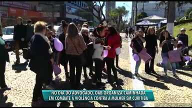 OAB organiza caminhada em combate à violência contra mulheres - As imagens de Luis Felipe Manvailer agredindo a mulher, Tatiane Spitzner, tiveram repercussão em todo mundo.