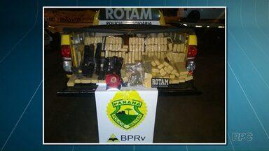 Polícia Rodoviária Estadual apreende 200 quilos de maconha na PR-323 - A droga foi apreendida próximo a Cruzeiro do Oeste
