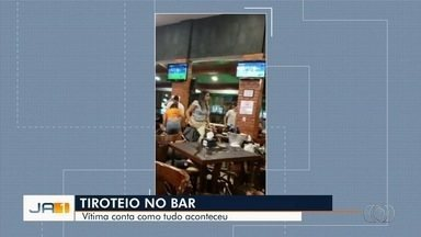 Mulher baleada durante tiroteio em bar de Goiânia conta momentos de pânico que viveu - Polícia já identificou o suspeito.