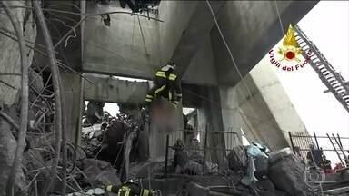 Sobe para 39 o número de mortos em desabamento de ponte na Itália - Subiu para 39 o número de mortos, no desabamento de uma ponte em Gênova na Itália. Entre os mortos, três crianças. E ainda há desaparecidos.