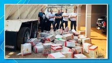 Quase duas toneladas e meia de maconha são apreendidas em Caarapó - Suspeito foi preso depois de uma denúncia a Polícia Militar.