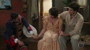 Luccino apoia Mariana - Ele e Otávio tentam animá-la