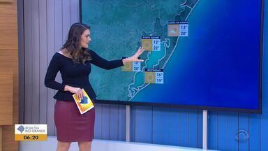 Tempo: RS registra ventos moderados nesta sexta-feira (17) - Veja como fica a previsão.
