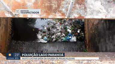 Poluição no Lago Paranoá - Galeria de águas pluviais da Asa Norte está repleta de lixo. Onde deveria ter apenas água da chuva é possível ver muita sujeira.
