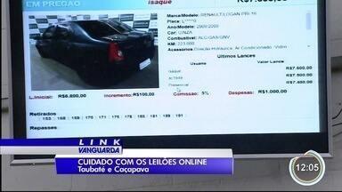 Morador de Taubaté teve prejuízo ao fechar negócio em leilão pela internet - Foram quase R$ 19 mil.