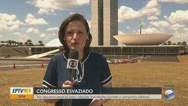 Campanha eleitoral afeta funcionamento do Congresso Nacional em Brasília - Tem esquema especial para votações importantes durante a campanha.
