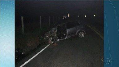 Acidente na ES-482 deixa motorista ferido, no Sul do ES - Motorista tem 26 anos.