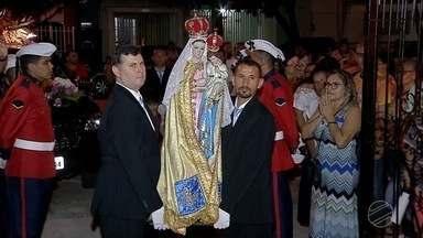Imagem de Nossa Senhora da Candelária é transferida para Igreja de Cacupe - Transferência ocorreu porque matriz está sendo reformada.