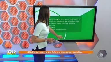 #GEComVC: confira as mensagens enviadas pelo público através do Twitter - Veja o quadro interativo do Globo Esporte Bahia.