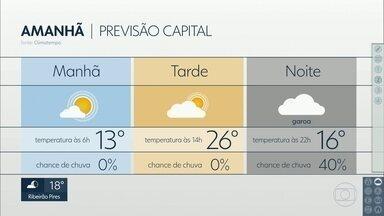 Tempo deve virar nesta terça-feira, 21 - Previsão é de sol e calor para o período da tarde. À noite, pode garoar e fazer frio.