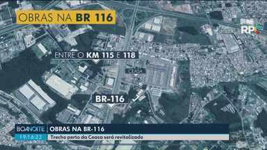 Começam as obras em trecho da BR-116 - O asfalto será revitalizado perto da Ceasa.