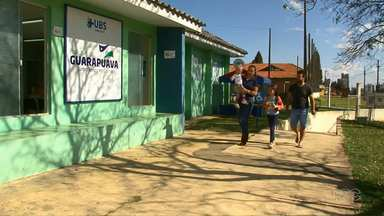 Guarapuava chega a metade da meta da vacinação de sarampo - Muitas crianças se vacinaram durante o Dia D, que aconteceu no último sábado