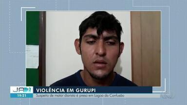 Suspeito de matar diarista em Gurupi é preso e diz ter agido por vingança - Suspeito de matar diarista em Gurupi é preso e diz ter agido por vingança