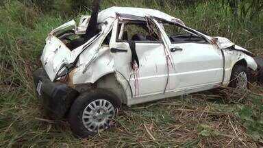 Criança de sete anos morre em acidente na BR-364 em Jaru - Quatro pessoas ficaram feridas, entre elas um bebê.