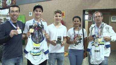 Seleção rondoniense desembarca em Porto Velho após copa Norte Nordeste de ciclismo - Ao todo, foram nove medalhas conquistadas.