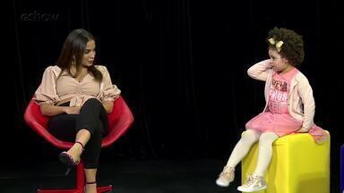 Prévia: Anitta responde pergunta de crianças no 'Caldeirão' - Assista ao teaser.