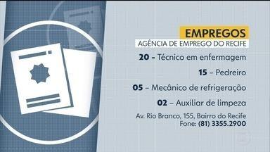 Confira as vagas de emprego oferecidas nesta quarta-feira (22) - Oportunidades são ofertadas na Agência de Emprego do Recife. Telefone: (81) 3355.2900.