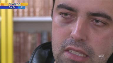 Professor afirma ter sido agredido por aluno de 13 anos em escola de Curitibanos - Professor afirma ter sido agredido por aluno de 13 anos em escola de Curitibanos