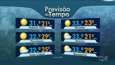 Veja as variações das temperaturas no Maranhão - Segundo a meteorologia a quarta-feira (22) será de sol em grande parte do estado.
