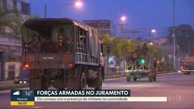 Forças Armadas fazem operação na Zona Norte do Rio - Forças Armadas fazem operação na Zona Norte do Rio