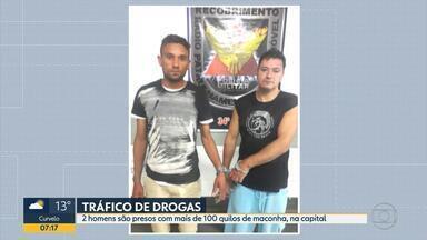 Dois suspeitos são presos com mais de 100 quilos de maconha, em Belo Horizonte - Eles foram detidos na Região Nordeste da capital.