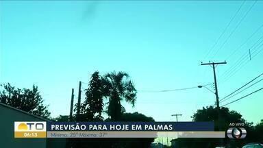 Confira a previsão do tempo para Palmas nesta quarta-feira (22) - Confira a previsão do tempo para Palmas nesta quarta-feira (22)