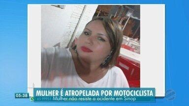 Mulher é atropelada por motociclista - Mulher é atropelada por motociclista