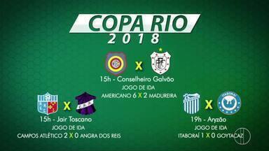 Jogos da oitava de final da Copa Rio serão nesta quarta - Assista a seguir.