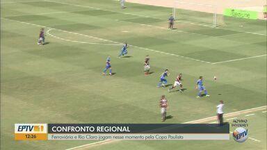Copa Paulista: Ferroviária vence partida contra o Rio Claro - Locomotiva venceu com 1 gol contra 0 do Galo Azul.