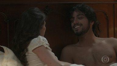 Ema e Ernesto trocam juras de amor - A baronesinha comemora sua noite de núpcias