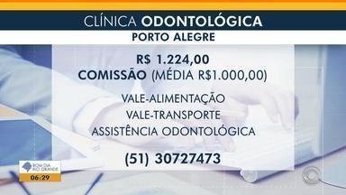 Clínica odontológica oferece vagas em Porto Alegre - Assista ao vídeo.