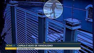 Capela é alvo de vandalismo em Guarapuava - O local ficou destruído.