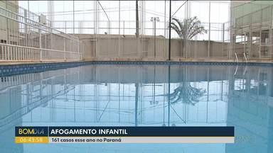Afogamento infantil - 161 casos foram registrados este ano no Paraná.