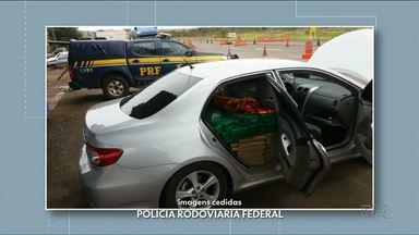 Polícia apreende quase 800kg de maconha em Porto Camargo - A droga estava num veículo com placas clonadas.