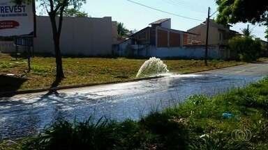 Telespectadores registram desperdícios de água em Goiânia - Imagens podem ser enviadas por email, QVT e Whatsapp.