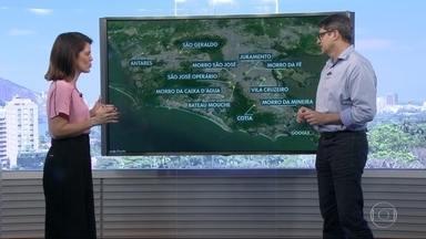 Tiroteios são registrados em pelo menos 11 pontos do Rio - Antares, São Geraldo, Morro São José, Juramento, Morro da Fé, Morro da Caixa D'Água e Bateau Mouche foram algumas comunidades onde os tiroteios assustaram moradores nesta sexta-feira (24).
