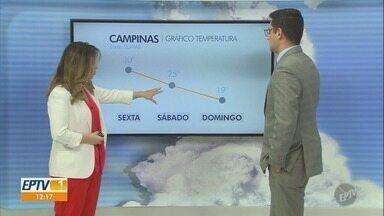 Campinas tem máxima de 30ºC nesta sexta-feira - Confira a previsão do tempo nas cidades da região.