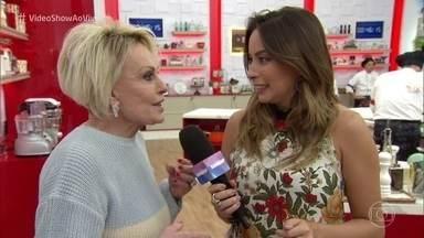 'Vídeo Show' invade a prova da Panela de Pressão do 'Super Chef Celebridades' - Ana Maria Braga revela que fica nervosa acompanhando os participantes do reality